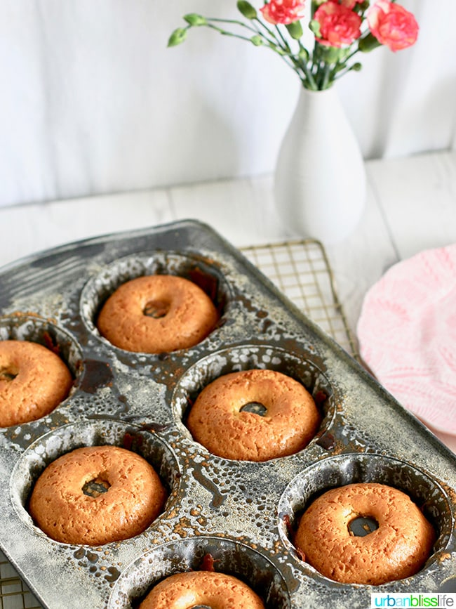Mini Citrus Bundt Cakes in pan