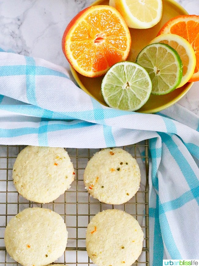 citrus fruit and cookies