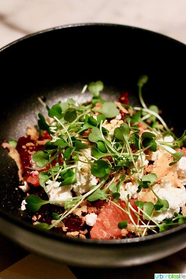 Gracie's restaurant beet salad