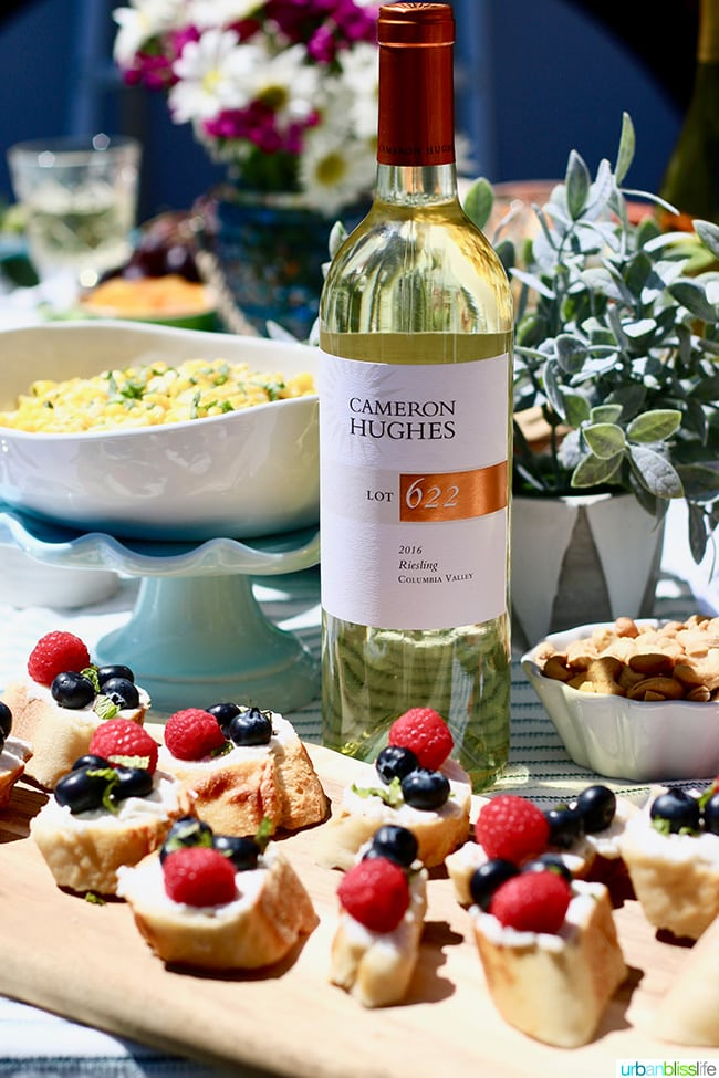white wine with ricotta crostini