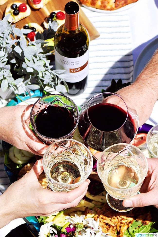 perfect summer party toasting