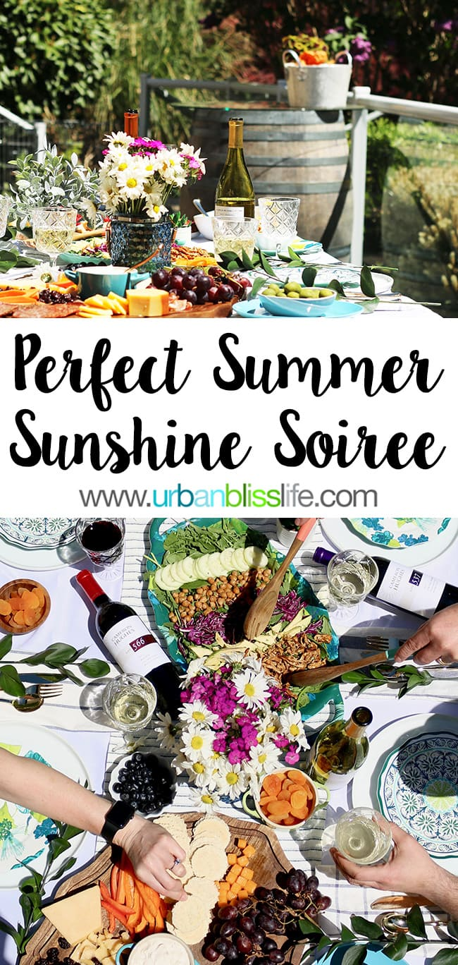 sunny summer party on UrbanBlissLife.com