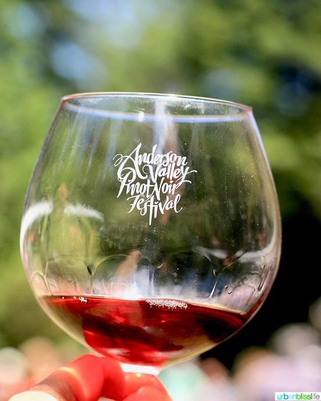 Anderson Valley WIne Festival glass