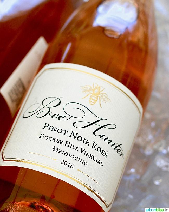 bee hunter rose wine