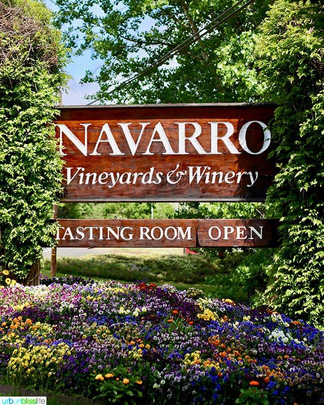 navarro vineyards in alexander valley
