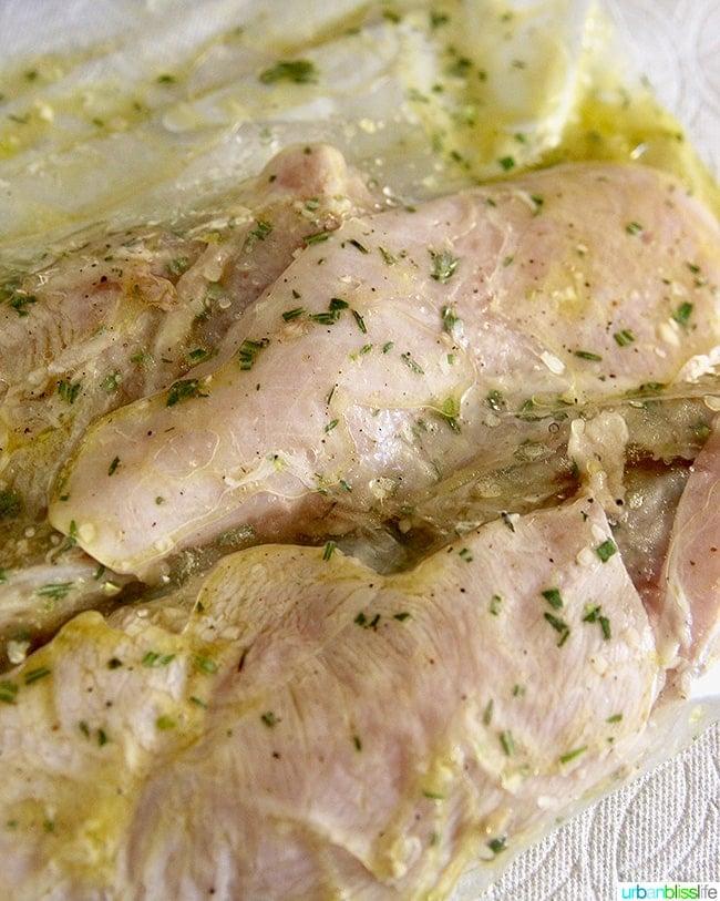 chicken breast in lemon herb marinade