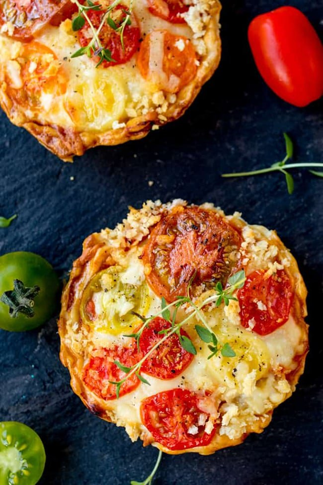 cheese tomato ragu tarts