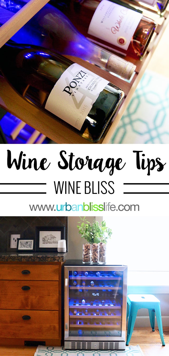 how to store wine at home - wine in wine fridge