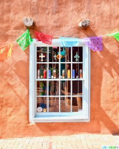 colorful window in Old Town Albuquerque, New Mexico