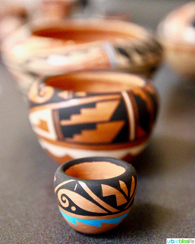 pottery at pueblo in Albuquerque, NM