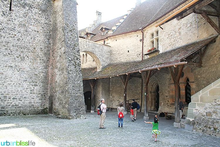 courtyard of Chateau de Chillon