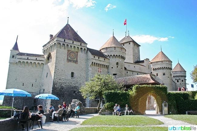 full view of Chateau de Chillon