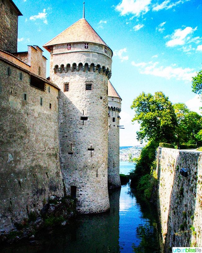 Chateau de Chillon moat