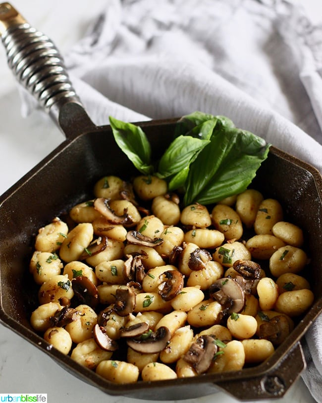 Skillet Mushroom Gnocchi