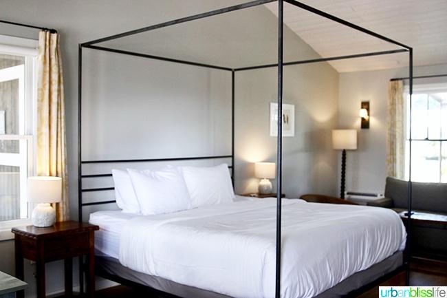 king bed Los Poblanos Inn Albuquerque New Mexico