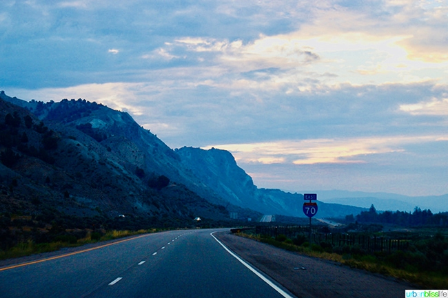 Colorado highway at dawn