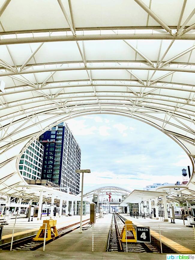 Denver Colorado union station train tracks