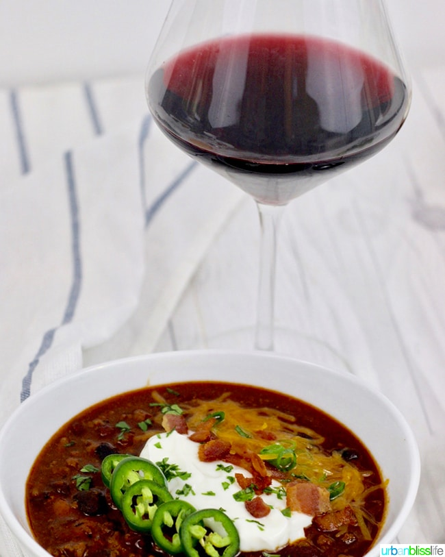 Instant Pot Chili with wine