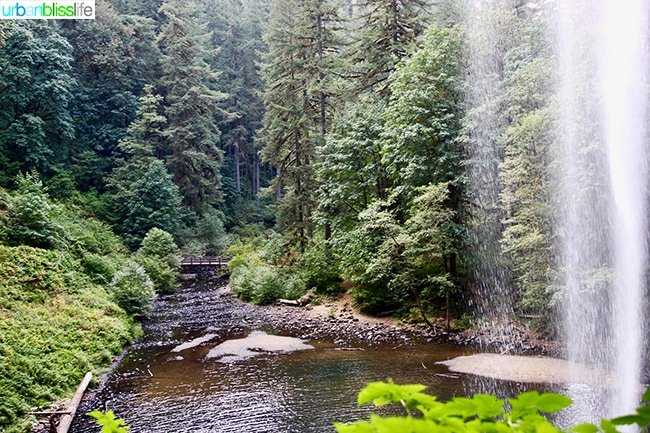 waterfall landscape Silver Falls State Park