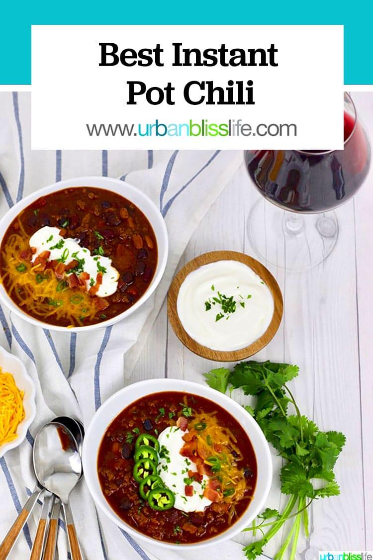 best instant pot chili