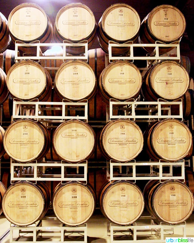 Barrels at Dundee Hills Domaine Drouhin Winery