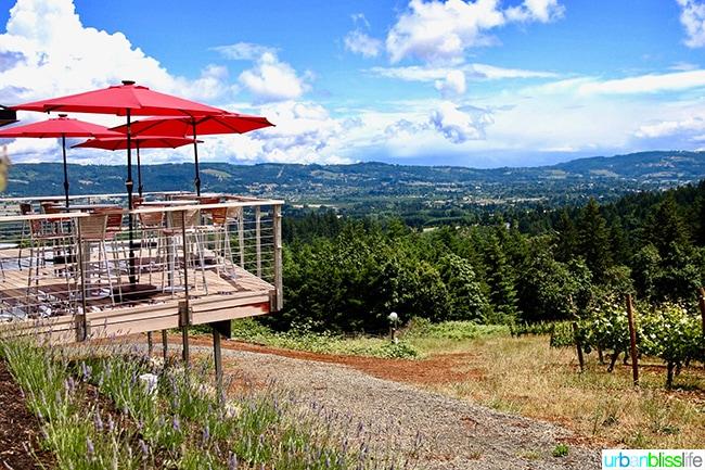 Lange winery patio