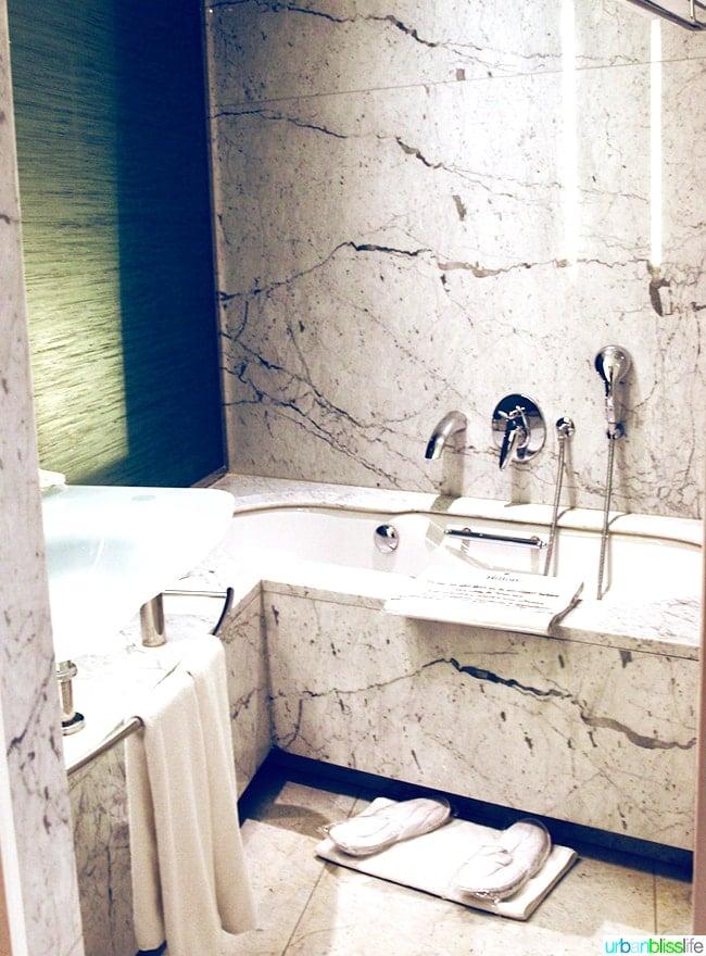 Hilton Athens executive Suite Level bathroom