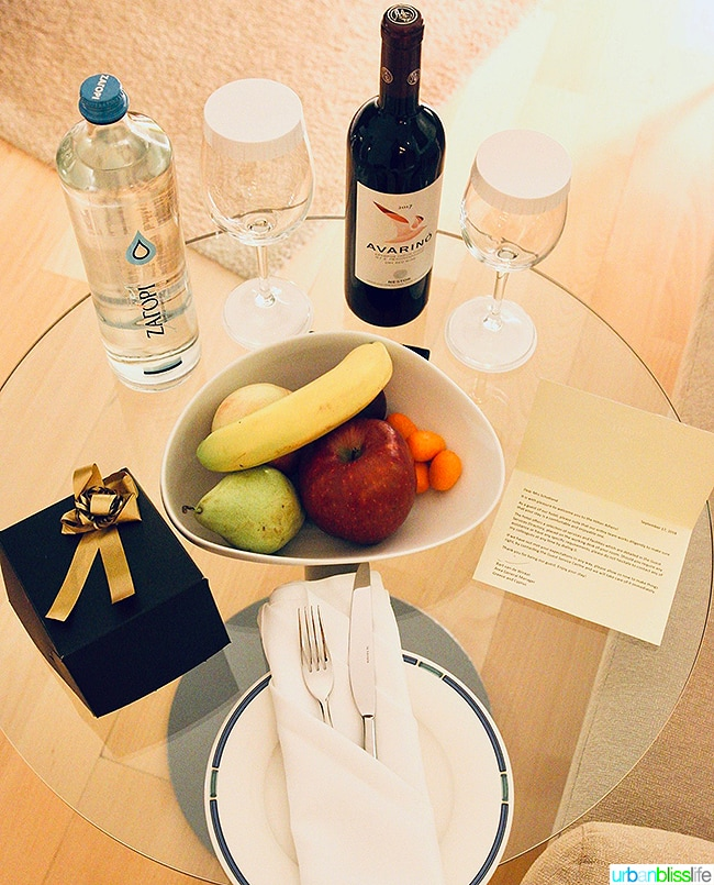 Hilton Athens welcome gifts