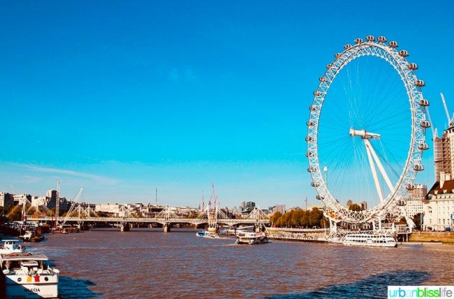 London Eye Thames River