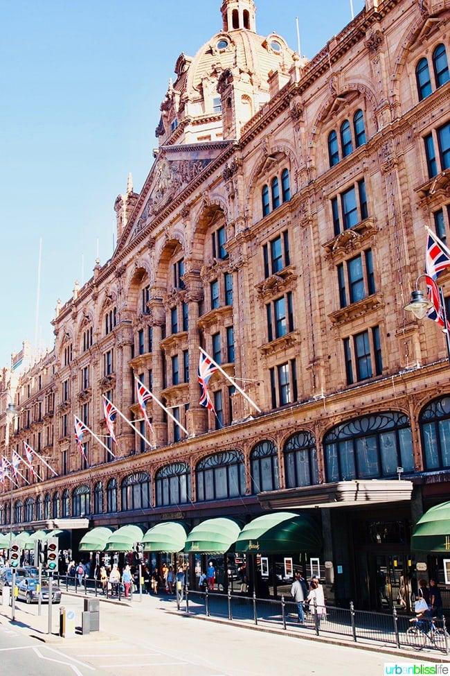 Harrod's London department store shopping