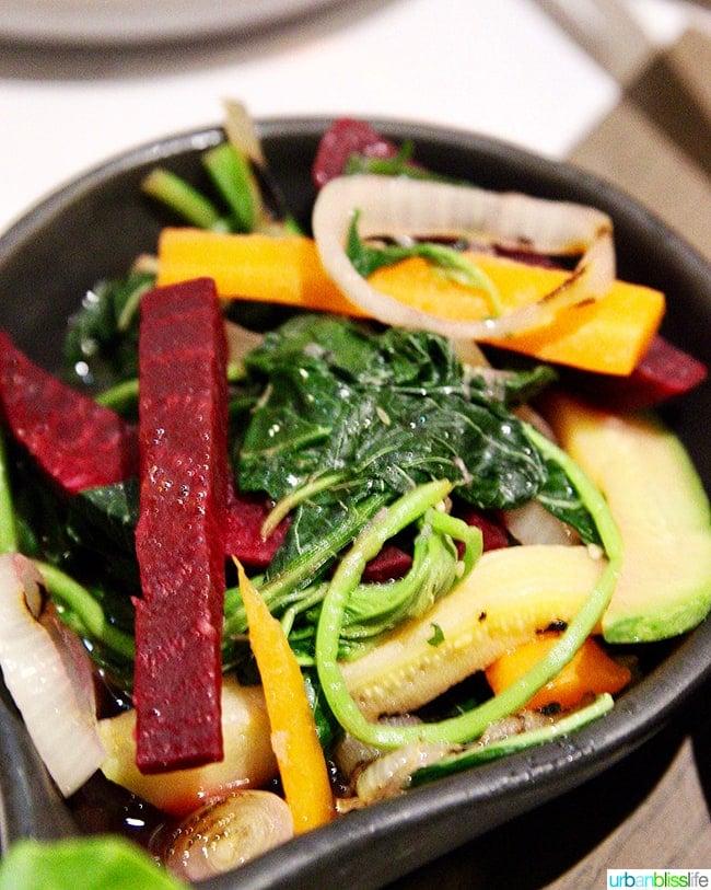 beets and veggies dish Nolan restaurant Athens, Greece