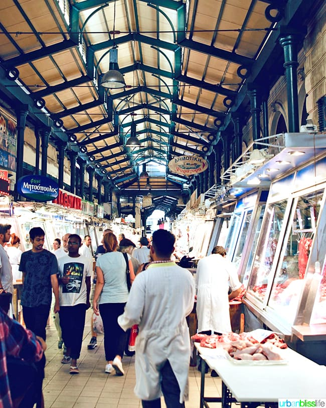 Meat market of Athens