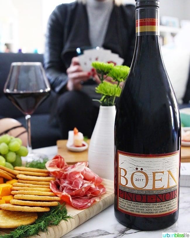 Boen Pinot Noir red wine at girls night