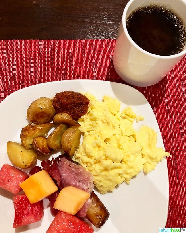 breakfast at Hotel Valencia Santana Row