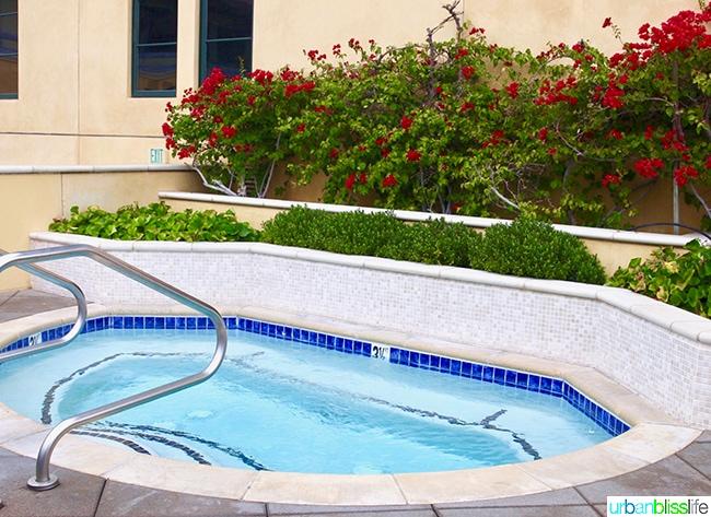 hot tub at Hotel Valencia Santana Row