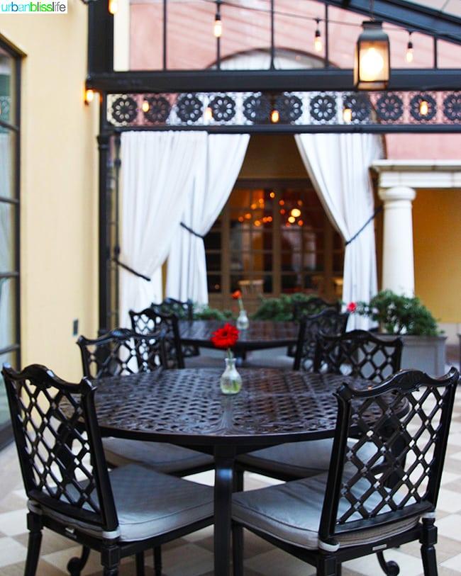 patio in Hotel Valencia Santana Row