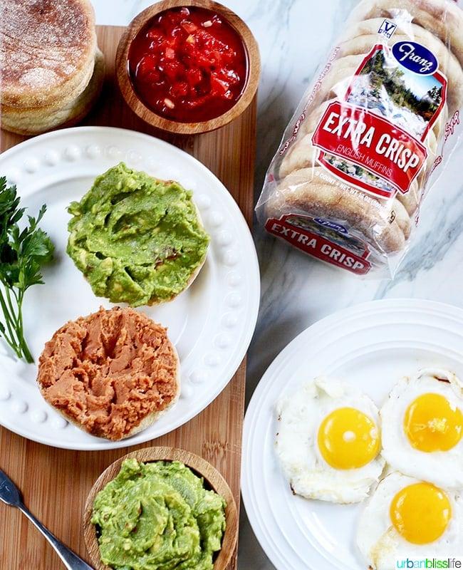 Huevos Rancheros Breakfast Sandwich ingredients