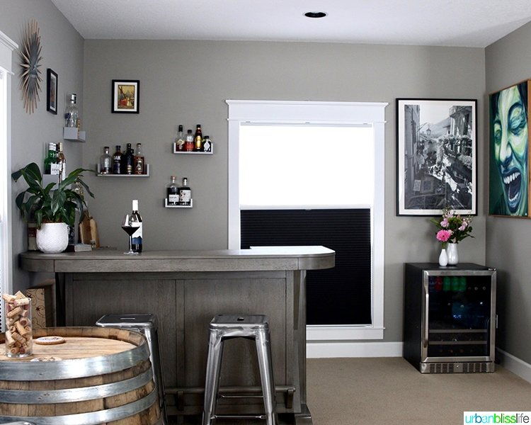 how to set up a home bar