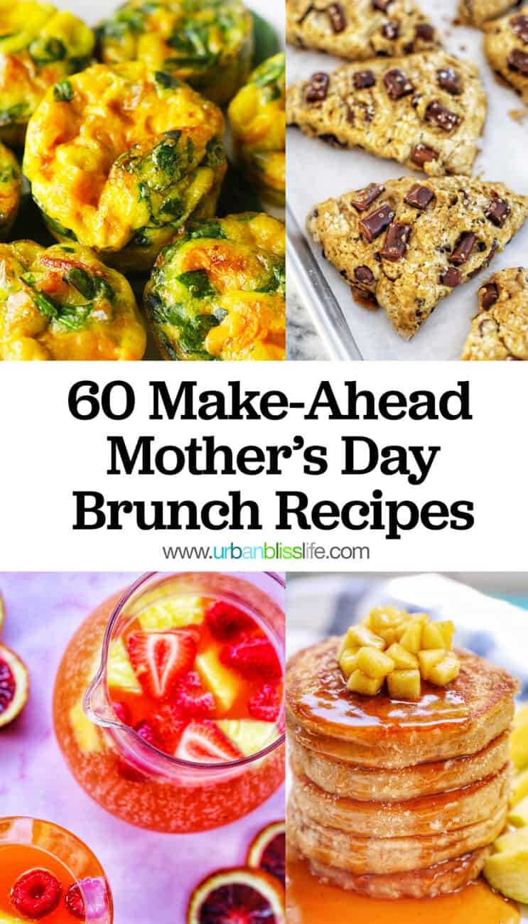 Mother's Day brunch recipes collage with text