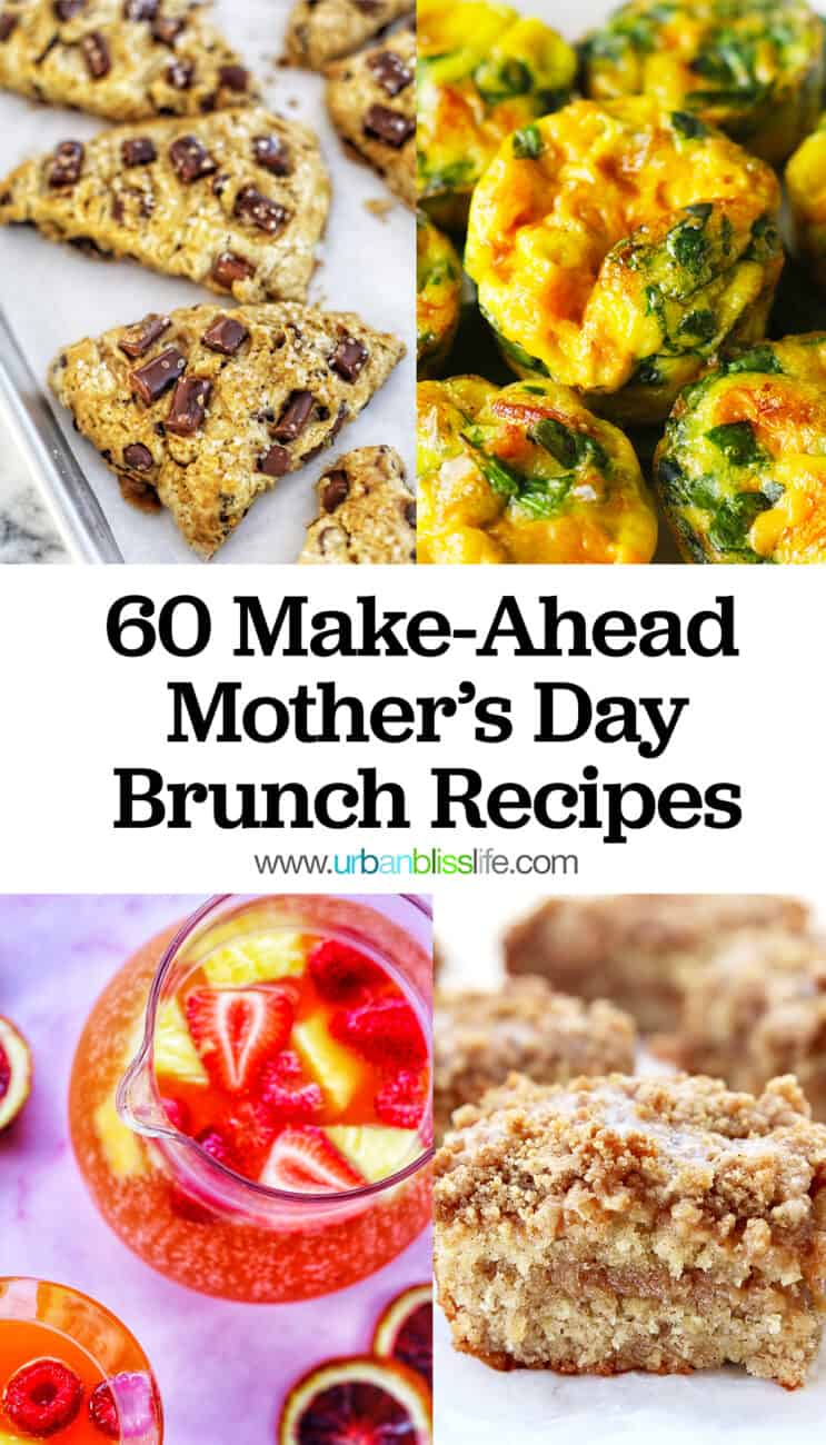 Mother's Day brunch recipes collage with text 2