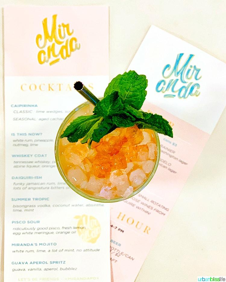mojito at Bar Miranda