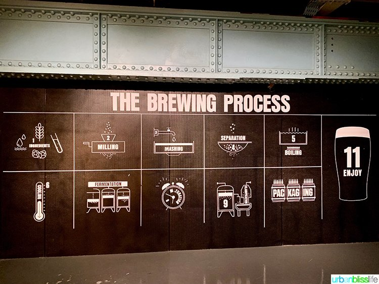brewing process at Guinness Storehouse