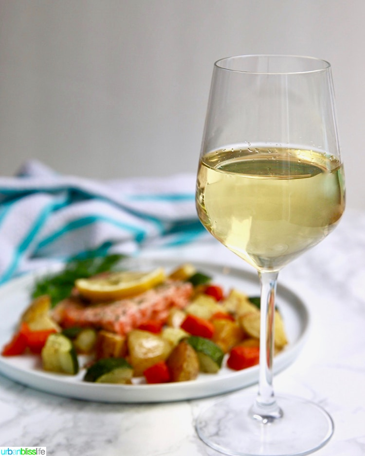 Sheet Pan Salmon and Vegetables with Wine