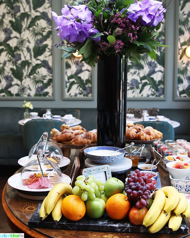 breakfast buffet at Wilder Townhouse