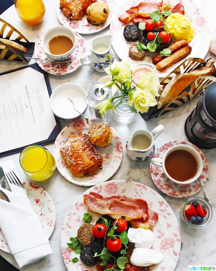breakfast at Wilder Townhouse
