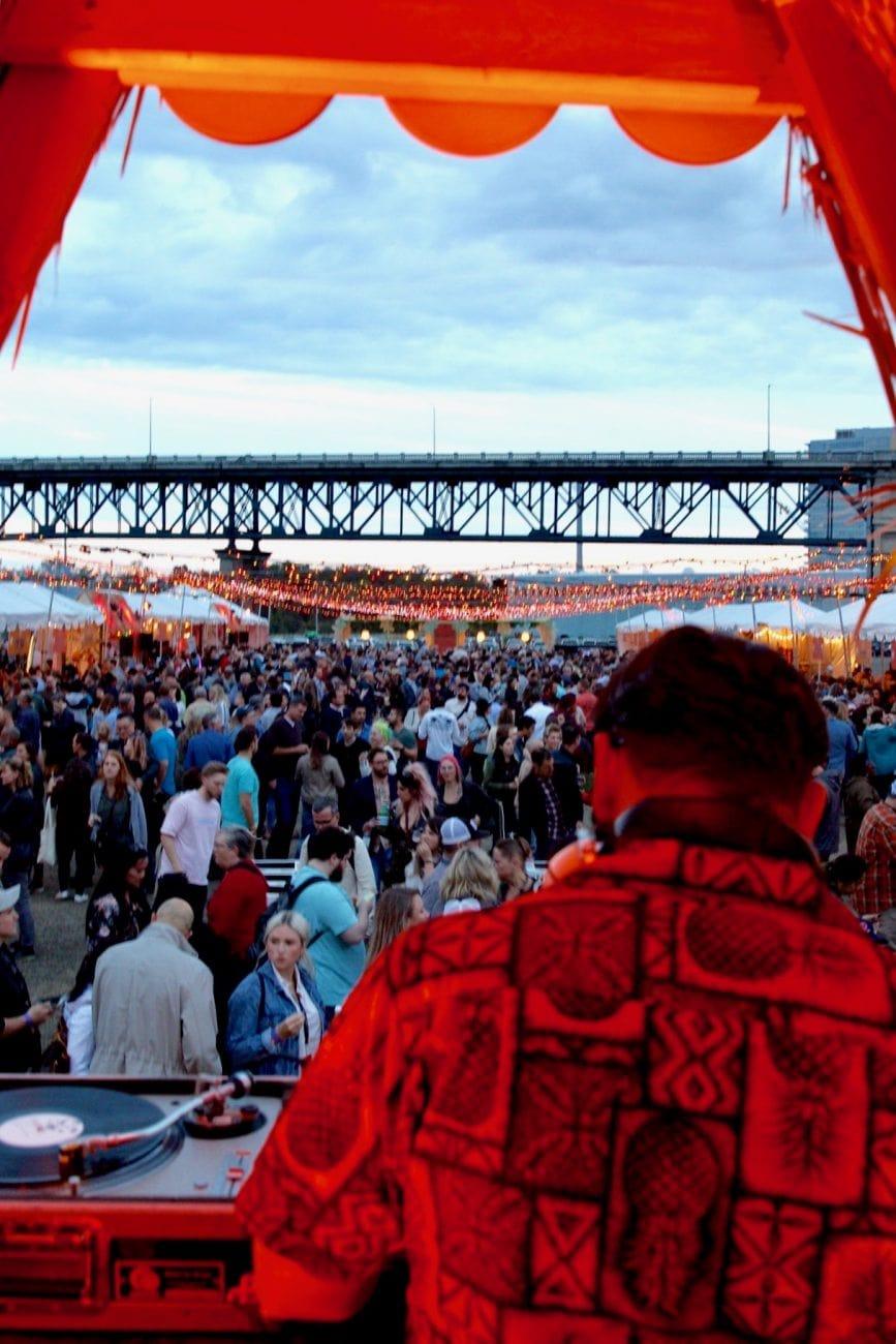 Feast Portland Night Market DJ booth