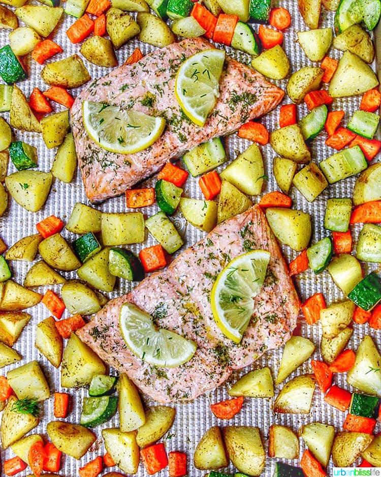 Sheet Pan Salmon and Vegetables