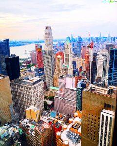 New York City skyline view from Manhatta restaurant
