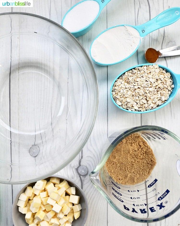 ingredients for apple pie bars