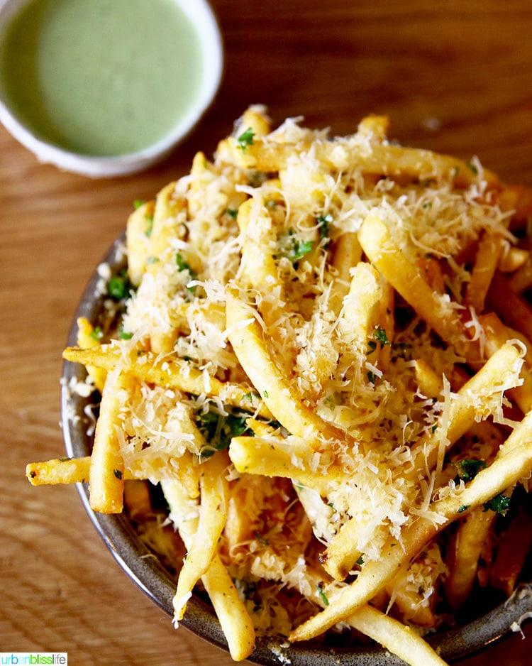 garlic fries at Canard restaurant